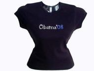 Barack Obama 2012 Presidential Campaign Logo Swarovski Crystal T Shirt