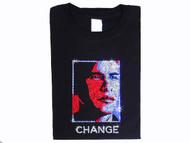 Barack Obama Face Silhouette Swarovski Crystal Rhinestone T Shirt
