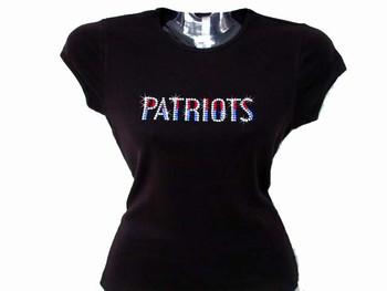 Patriots Swarovski Rhinestone Bling T Shirt