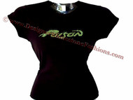 Poison Swarovski rhinestone concert t shirt