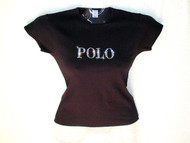 Polo Inspired Swarovski Crystal Rhinestone T Shirt Top