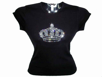 princess crown swarovski crystal rhinestone t shirt design