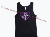 Prince Symbol Rhinestone Tank Top Made With Swarovski Crystals