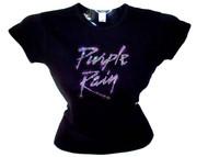 Purple Rain Prince Rhinestone T Shirt
