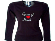 Queen Of Hearts Bling Swarovski Crystal Rhinestone T Shirt