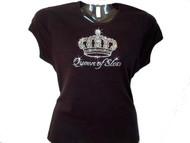 Queen Of Slots Las Vegas Rhinestone Gambling T Shirt