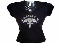 Queensryche Swarovski Crystal Rhinestone Studded Concert T Shirt