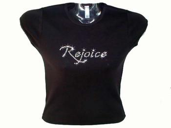 Sparkly Rejoice Rhinestone T Shirt