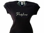 Restylane Swarovski Crystal Rhinestone Spa T Shirt