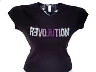 Revolution Swarovski Rhinestone T Shirt