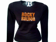 Rocky Balboa Movie Swarovski Crystal Rhinestone T Shirt