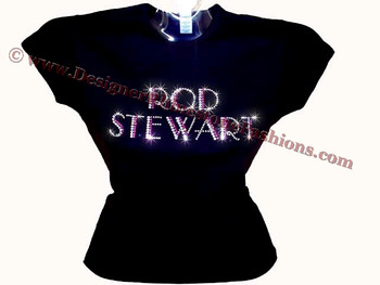 Rod stewart swarovski crystal rhinestone t shirt top for Swarovski crystal t shirts