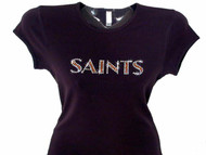 New Orleans Saints sparkly rhinestone t shirt