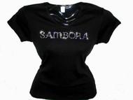 Sambora Swarovski Crystal Rhinestone Concert T Shirt Top