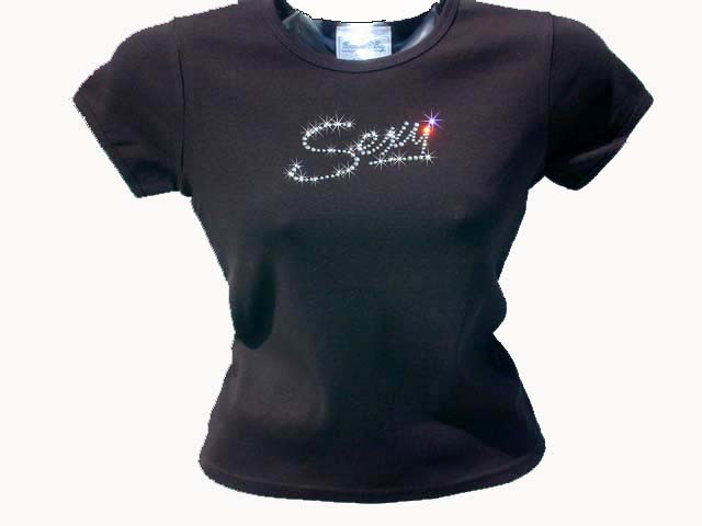 Sexy swarovski crystal rhinestone t shirt top for Swarovski crystal t shirts