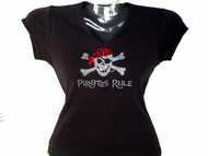 Pirates Rule Gasparilla Bling Rhinestone T Shirt