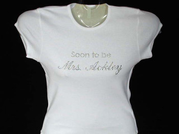 Soon To Be Mrs. Swarovski crystal rhinestone t shirt