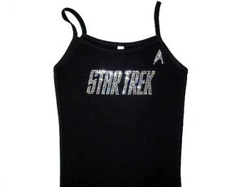 Star Trek logo Swarovski rhinestone t shirt
