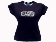 Star Wars Logo Swarovski Crystal Rhinestone T Shirt