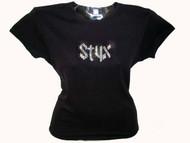 Styx Swarovski Crystal Rhinestone Concert T Shirt