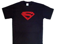 Bling Superman Logo Rhinestone T Shirt