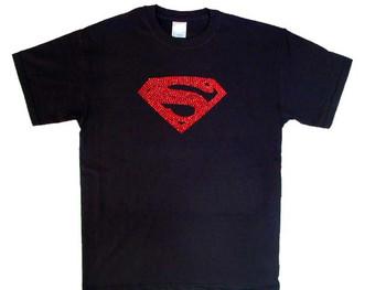 Bling Superman Logo Rhinestone T Shirt