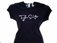 Taylor Swift Swarovski Crystal Rhinestone Concert T Shirt