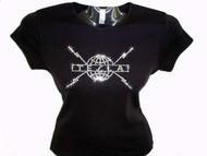 Tesla Logo Swarovski Crsytal Rhinestone Concert Tee Shirt