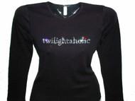 Twilightaholic Swarovski Crystal Bling Rhinestone T Shirt