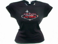 Welcome to Fabulous Las Vegas Swarovski crystal rhinestone t shirt