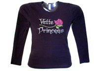 Corvette Princess Bling Rhinestone T Shirt