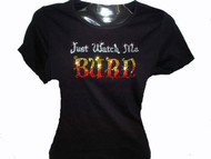 Just Watch Me Burn Halloween Swarovski Crystal Rhinestone T Shirt