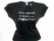 What Happens In Vegas Stays in Vegas Swarovski Crystal Rhinestone T Shirt
