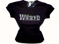 Bling Wicked Halloween Swarovski Crystal Rhinestone T Shirt