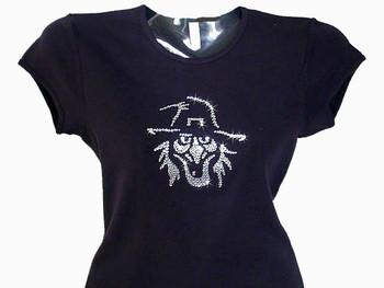 Halloween Witch Rhinestone Bling T Shirt