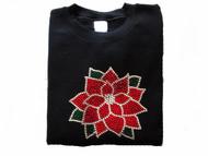 Christmas Poinsettia Swarovski Crystal Rhinestone Shirt