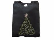 Christmas Tree Swarovski rhinestone shirt