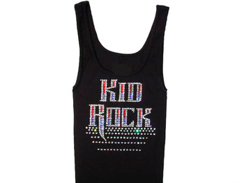 Kid Rock sparkly rhinestone concert tank top t shirt
