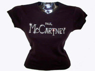Paul McCartney Swarovski Crystal Rhinestone Concert T Shirt