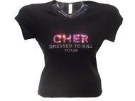 Cher Dressed To Kill Rhinestone Concert T Shirt