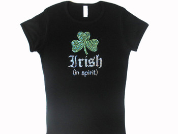 Irish In Spirit Swarovski Crystal Rhinestone Sparkly T Shirt