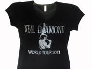 Neil Diamond World Tour 2017 Swarovski Crystal Rhinestone T Shirt