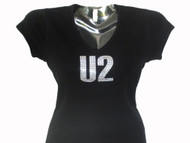 U2 Swarovski crystal rhinestone t shirt