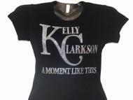 Kelly Clarkson Swarovski Crystal Rhinestone Concert T Shirt