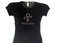 Prince Memorial Tribute Rhinestone T Shirt