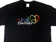 One Pulse Orlando Shooting Swarovski crystal rhinestone t shirt