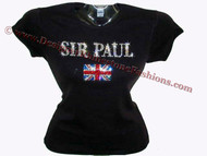 Sir Paul McCartney Sparkly Rhinestone Tee Shirt