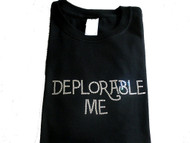 Trump Deplorable Me Rhinestone T Shirt