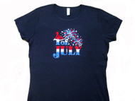 4th Of July rhinestone t shirt