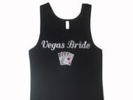 Vegas Bride Swarovski rhinestone bling t shirt tank top